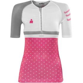 Compressport TR3 Naiset Ironman 2017 , vaaleanpunainen/valkoinen
